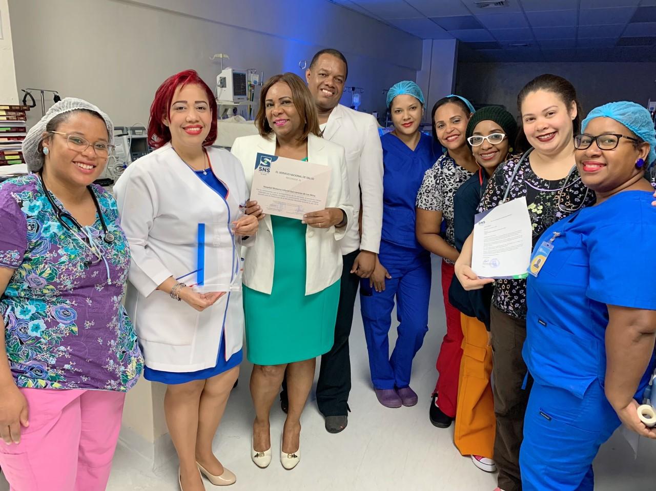 Read more about the article SNS reconoce al Hospital Materno Infantil San Lorenzo de Los Mina por disminución de los indicadores de Mortalidad Neonatal en el año 2019